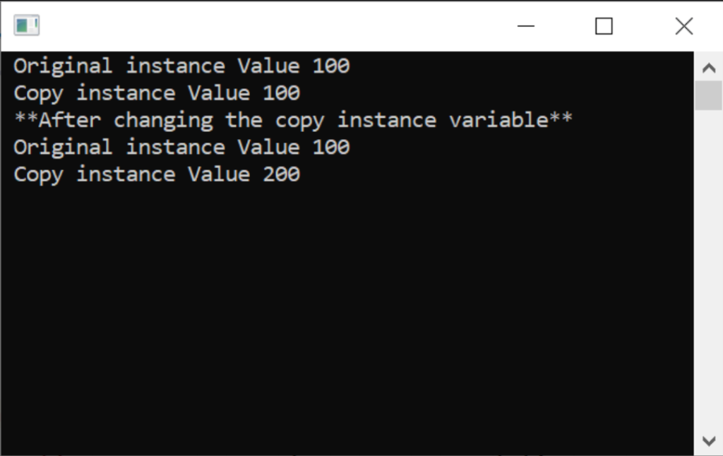 Value type program outputs