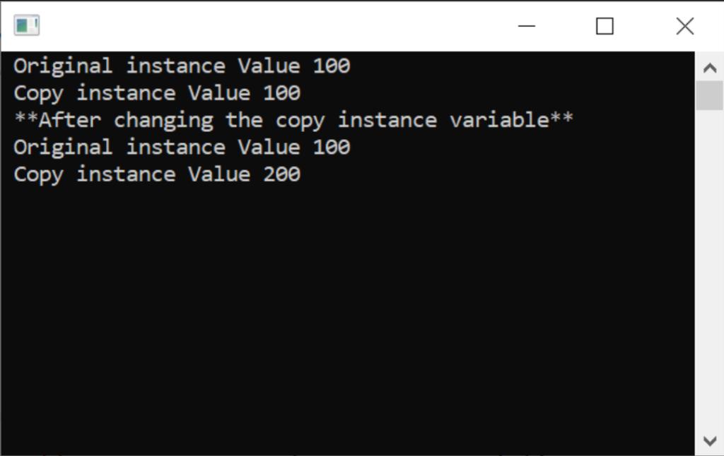 Value type program outputs