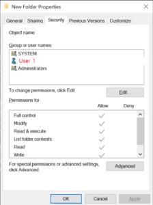 folder access
